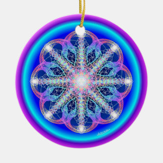 Swirling Vortex/Breathe Ceramic Ornament
