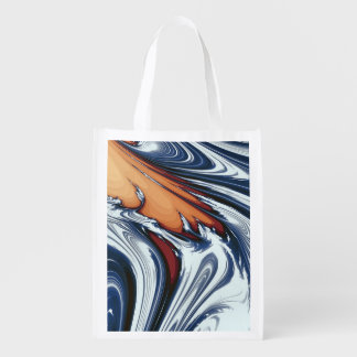 SWIRLING WATER REUSABLE GROCERY BAG