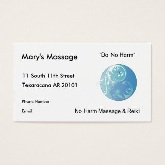Swirling Yinyang Symbol (Earth) Business Card