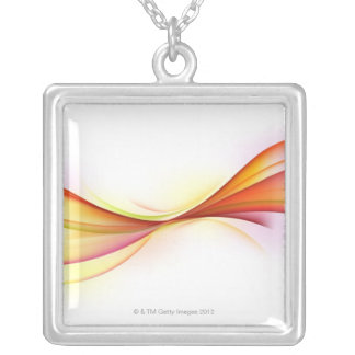 Swirls 2 silver plated necklace