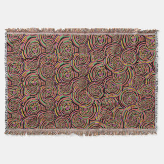 Swirls and Circles Throw Blanket