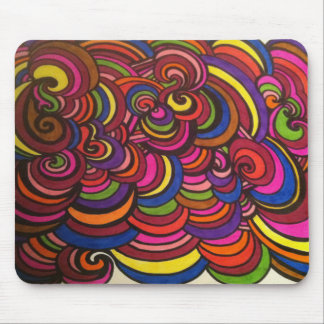 SWIRLS and COLORFUL LAYERS! Mouse Pad