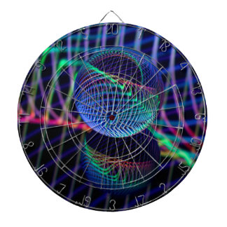 Swirls and lines in the glass ball dartboard
