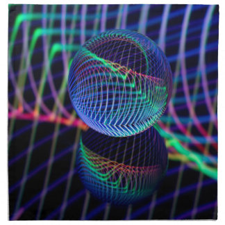Swirls and lines in the glass ball napkin