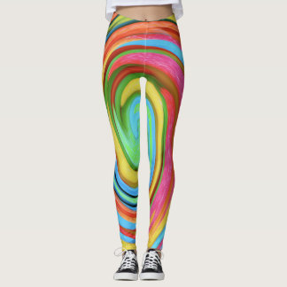 Swirls and Twirls Very Colorful Leggings
