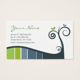 Swirls Business Card - Blue