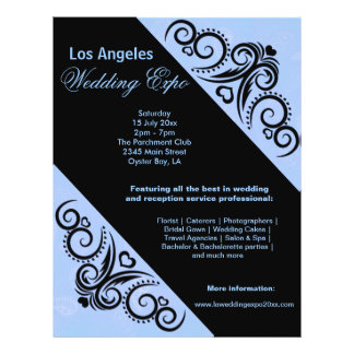 Swirls Heart Wedding Expo (Blue) Flyer