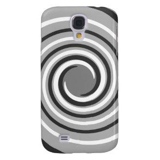 Swirls in Gray and White. Spiral Design.