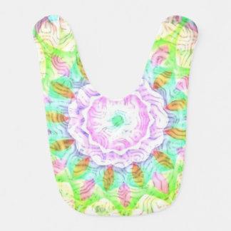 Swirls Multicolor Kaleidoscope Flower Bib