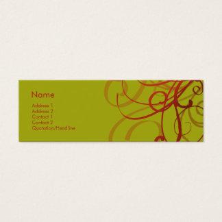 Swirls No. 0920 Mini Business Card