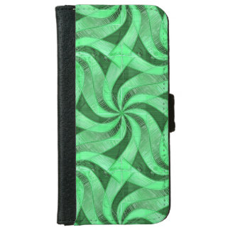 Swirls of Green iPhone 6 Wallet Case