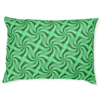 Swirls of Green Pet Bed