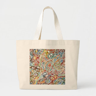 Swirls of Happiness Large Tote Bag