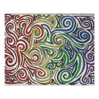 Swirls of Pride Poster
