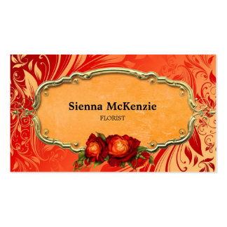 Swirls Roses Business Card