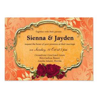 "Swirls Roses 5"" X 7"" Invitation Card"