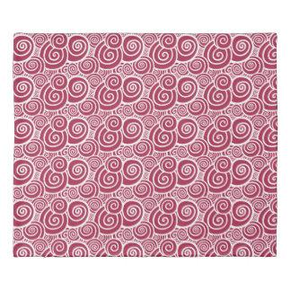 Swirls - Scarlet double-sided Duvet Cover