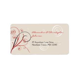 Swirls & Spirals Elegant Wedding Label