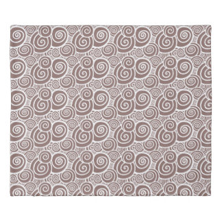 Swirls - Taupe double-sided Duvet Cover