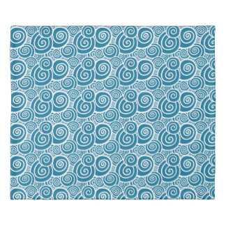 Swirls - Teal double-sided Duvet Cover