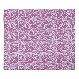 Swirls - Viola double-sided Duvet Cover