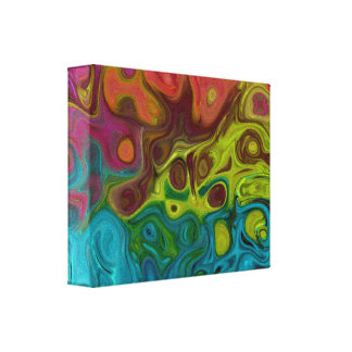 swirly Abstract art 4444 777 Canvas Print