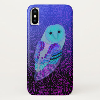 Swirly Barn Owl Barely There iPhone X Case