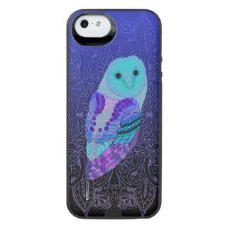 Swirly Barn Owl iPhone SE/5/5s Battery Case