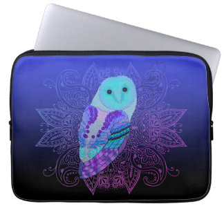 Swirly Barn Owl Laptop Sleeve