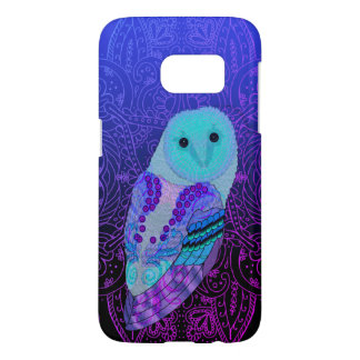 Swirly Barn Owl Samsung Galaxy S7 Case