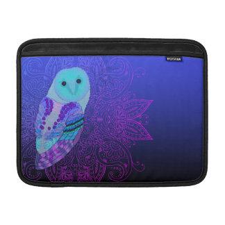 Swirly Barn Owl Sleeve For MacBook Air