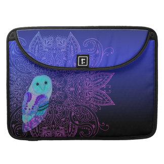 Swirly Barn Owl Sleeve For MacBook Pro