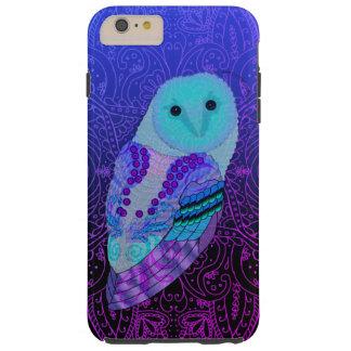 Swirly Barn Owl Tough iPhone 6 Plus Case