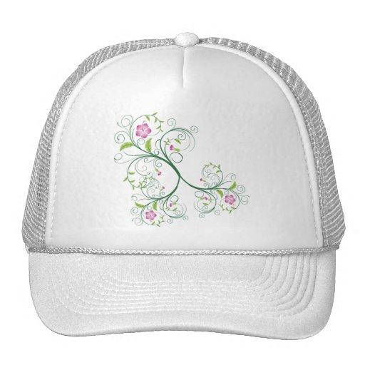 Swirly Birthday Floral Vine Pattern Hat