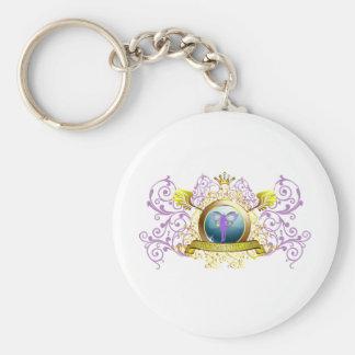 Swirly Blazon Faerie Godmother Basic Round Button Keychain