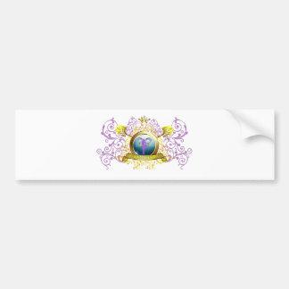 Swirly Blazon Faerie Godmother Bumper Sticker
