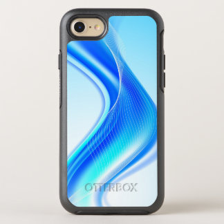 Swirly Blue Wave OtterBox Symmetry iPhone 8/7 Case