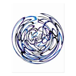 Swirly Circle Postcard