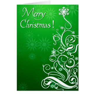 Swirly Curly Christmas Tree Card