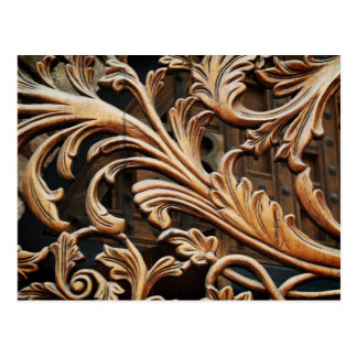 Swirly decoration postcard