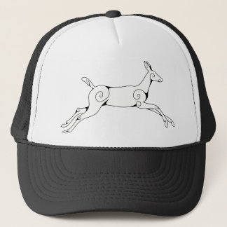 Swirly Deer Trucker Hat