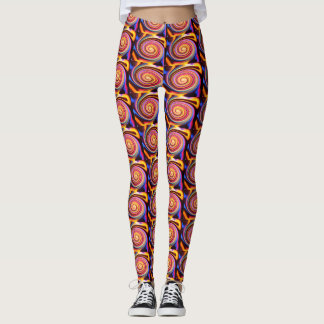 Swirly Designed Leggings
