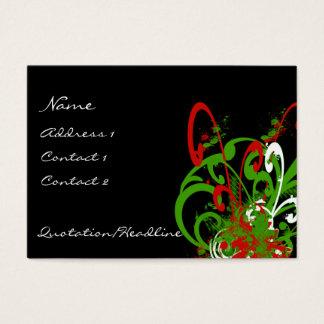 Swirly Distressed Paint Splats - C... - Customized Business Card