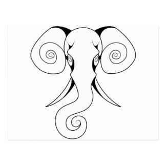 Swirly Elephant Postcard