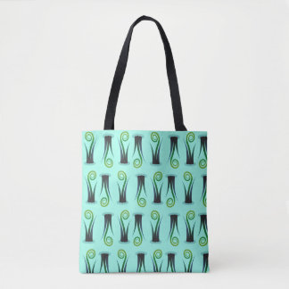 Swirly Ferns Whimsical Plants Nature Lovers Tote Bag