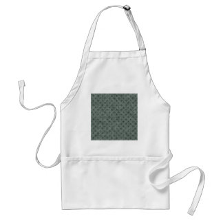 Swirly Floor Plate With Polka Dots On Hunter Green Aprons