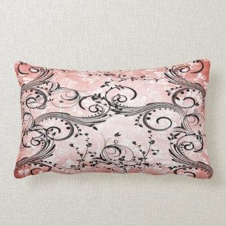 Swirly Flower Vines Lumbar Pillow