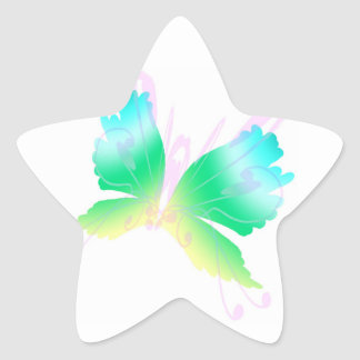 Swirly Fly III Star Sticker