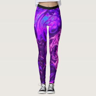 Swirly girl leggings