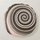 Swirly Girly Pink Round Pillow